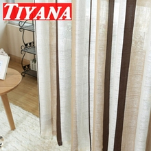 Modern Stripe Coffee Curtains Finished Products Window Screening Balcony Kitchen Curtains Ready Made Curtains ds059#30(China (Mainland))