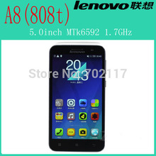 """Original 5.0""""Lenovo A8/ A808T/ A806 RAM 2GB + ROM 16GB OS Android 4.4 Mobile Phone MTK6592 Octa Core 1.7GHz Phones GSM Network"""