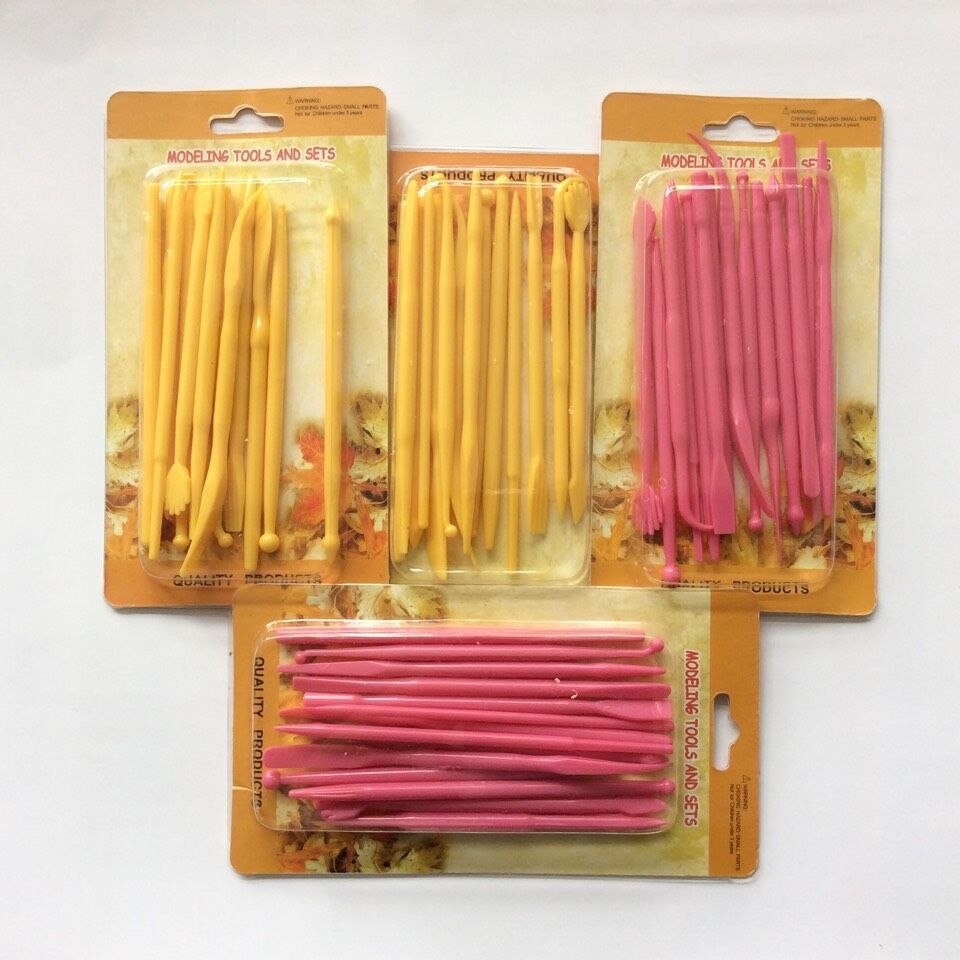 28 Patterns Mini Fondant Cake Carving Engraving Pen Decorating Flower Sugar Craft Modelling Tools Clay 14pcs/1set(China (Mainland))