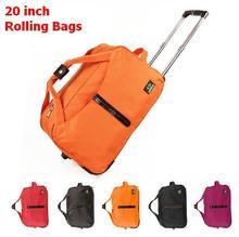 Hohe Qualität 20 zoll leise räder rollgepäck wasserdichte duffle taschen reise trolley bordtasche mit einem schloss große 4 farben(China (Mainland))