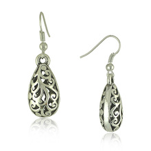 Ethnic Vintage Tibetan Silver Carving Drop Earrings Vintage Jewelry Earrings for Women(China (Mainland))