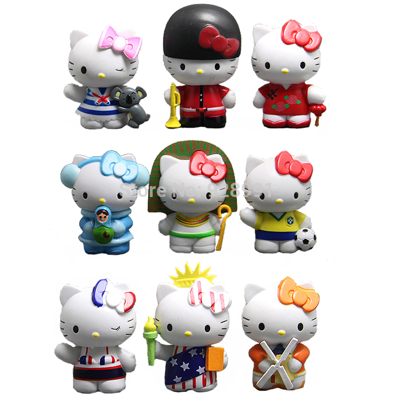 Hello Kitty Sanrio Japanese Miniature Collectible Doll Anime Figurine Japan PVC Action Figures Set Kids Toys For Girls Children