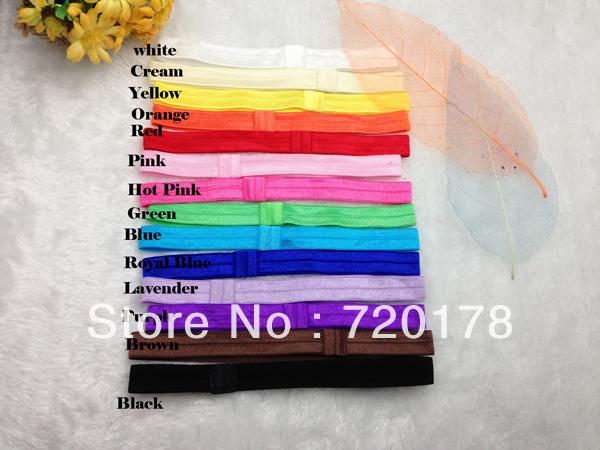 Free shipping,100pcs/lot,1.5cm Width Interchangeable Elastic Headbands,FOE Headband for Newborn Baby Toddler Girl & Adult,TYB38(China (Mainland))