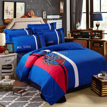 Basketball Jam Session applique embroidered bedding sets cotton queen king duvet/quilt/comforter covers flat sheet bed set 4/5pc(China (Mainland))