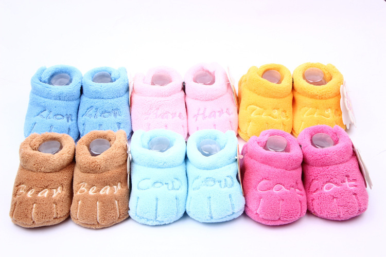 Winter Warm Snow Shoes Toddler Boys Girls Unisex Skid-proof Soft Sole Baby Cotton Shoes
