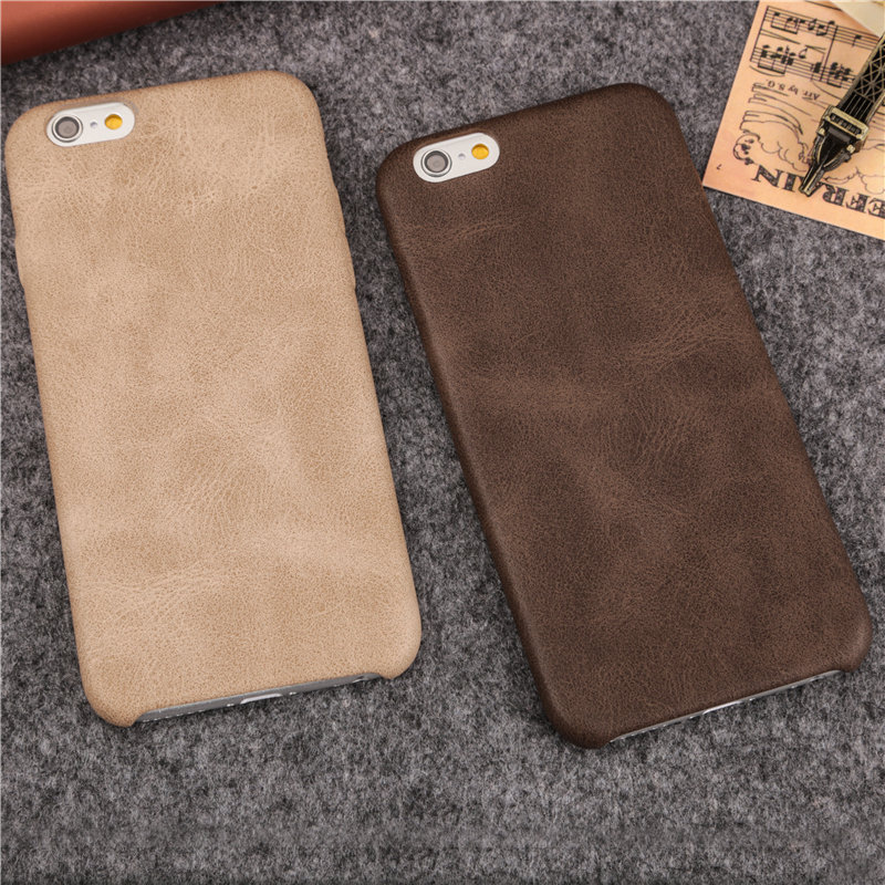 New Imitate Leather Texture Cell Phone Cases for iPhone 6 6S 6Plus 6s plus 7 7Plus luxury slim Soft PU protective Cover shell(China (Mainland))