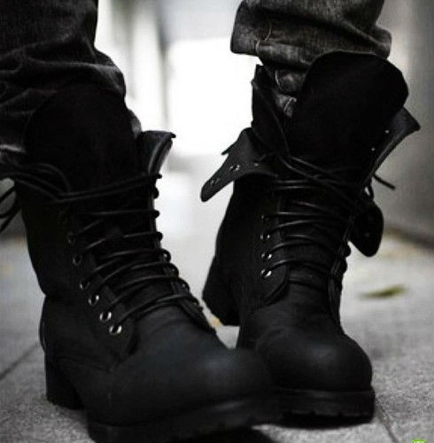 Free shipping!!!Retro Combat boots Winter England-style fashionable Men's short Black shoes`Hot! LS034(China (Mainland))