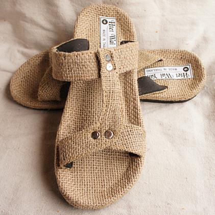 2014 summer men's hemp sandals slippers,designer brand handmade national beach plus size38-47