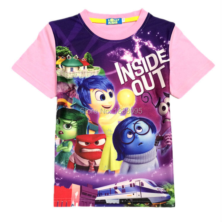 Wholesales Inside Out children kids boys girls t shirt summer baby kids boys girls tees tops t shirt for children graments(China (Mainland))