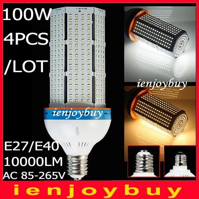 4pcs/lot Wholesale 12000lm E39 E40 100W Led Corn Bulb Lamp wallpacks warehouse Street Light,Energy saving replace CFL 270-330W(China (Mainland))