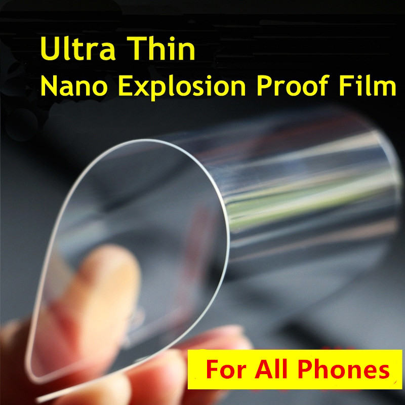 0.05mm Nano Screen Protector 100% Better than Tempered Glass For iPhone 6 6s 6plus 5 5s 4 Samsung Galaxy S4 S5 S6 Note3 4 5 etc.(China (Mainland))