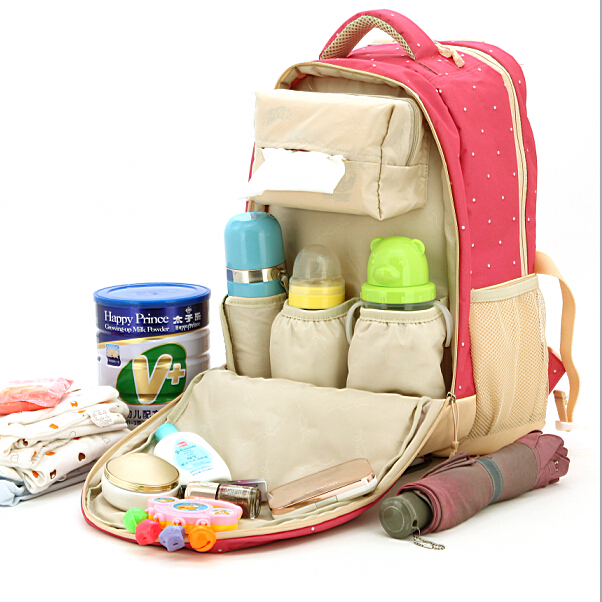 2015 Updated Mummy nappy bags maternidade baby diaper backpack changing bag maternity handbag travel women tote bag big capacity(China (Mainland))