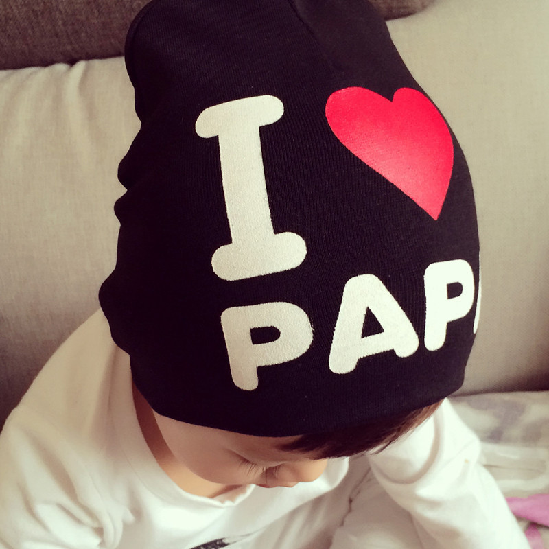 Гаджет  2015 New Spring Autumn Baby Hat New Born Photography Props Knitted I Love Papa Mama Baby Cap None Детские товары