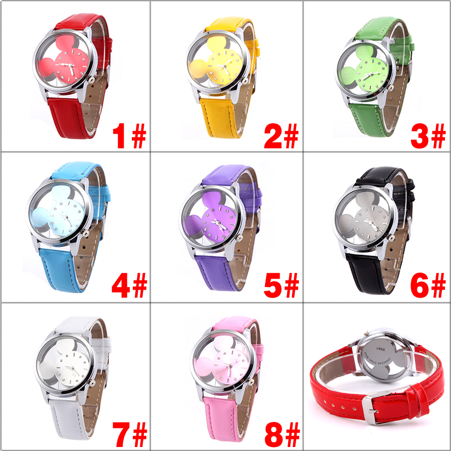 Гаджет  New  Children Cartoon Watches Fashion Waterproof  Imitation Leather Strap Quartz Watch Kids Wristwatches None Часы