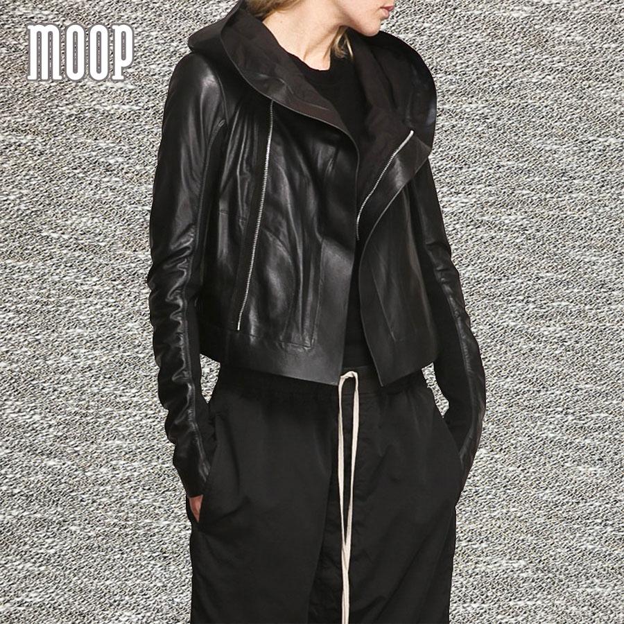 black genuine leather coat women 100 lambskin hooded. Black Bedroom Furniture Sets. Home Design Ideas