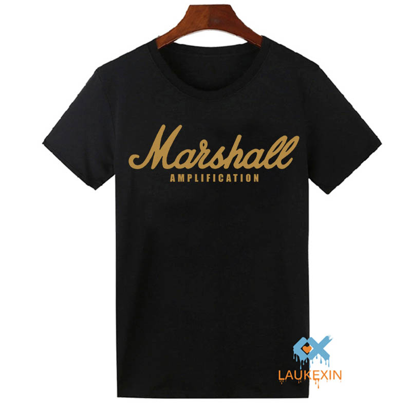 Marshall T Shirt Logo Amps Amplification Guitar Hero Hard Rock Cafe Music Muse Tops Tee Shirts For Men Women T-shirt Plus Size(China (Mainland))