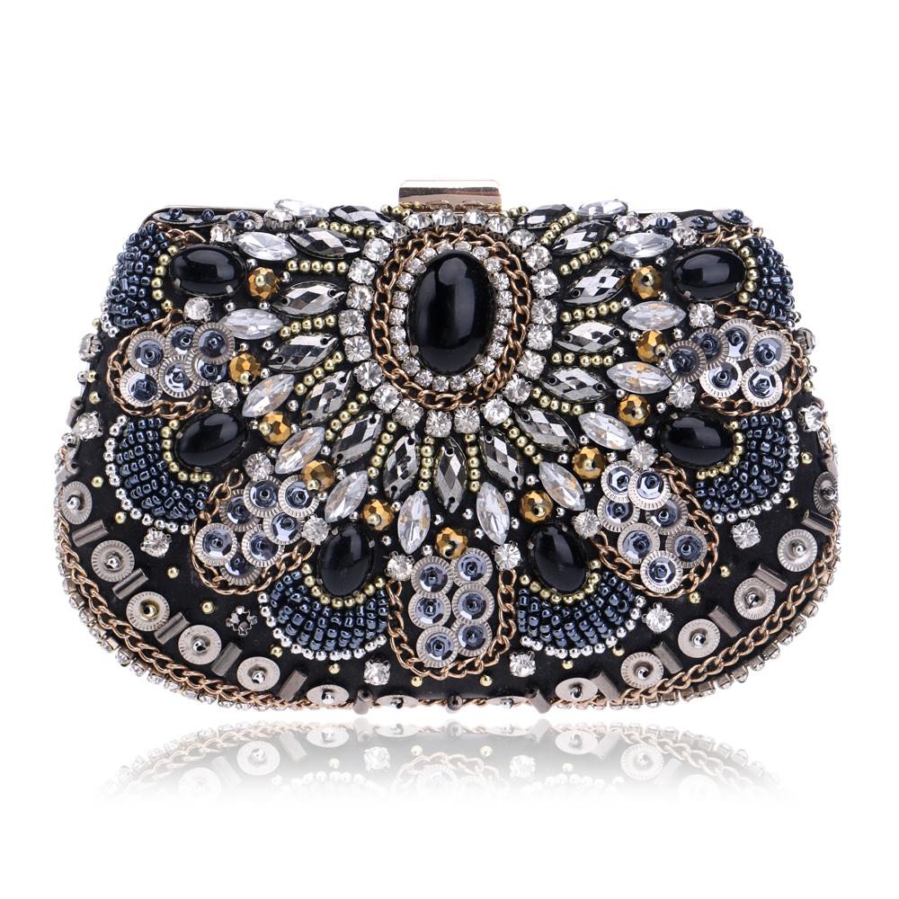 NEW Women Evening Bags Beaded Wedding Handbags Clutch Purse Evening Bag For Wedding Day Clutches ...