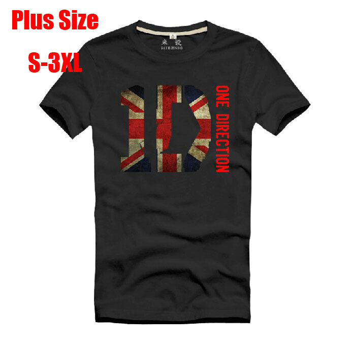 New 2015 funny t shirts uk flag one direction shirt rock Plus size designer clothes uk