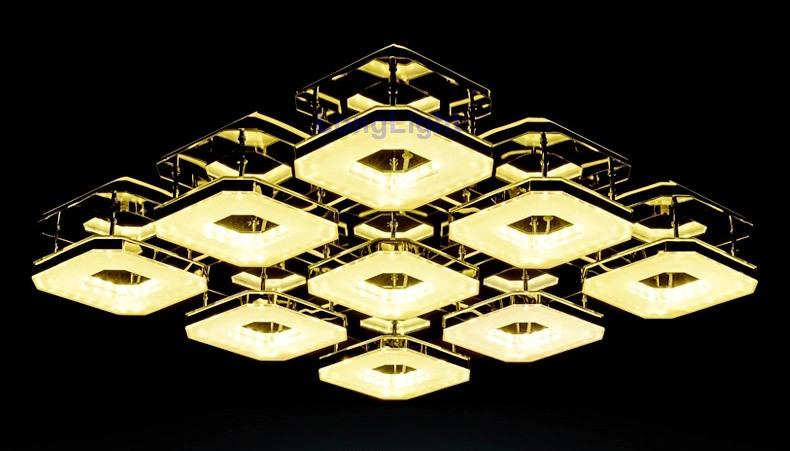 Фотография LED modern chandelier Ceiling chandeliers Lustre lamps for home modern Square living room lamp 90cm*68cm*8cm 96W 85-265V CE RoHS
