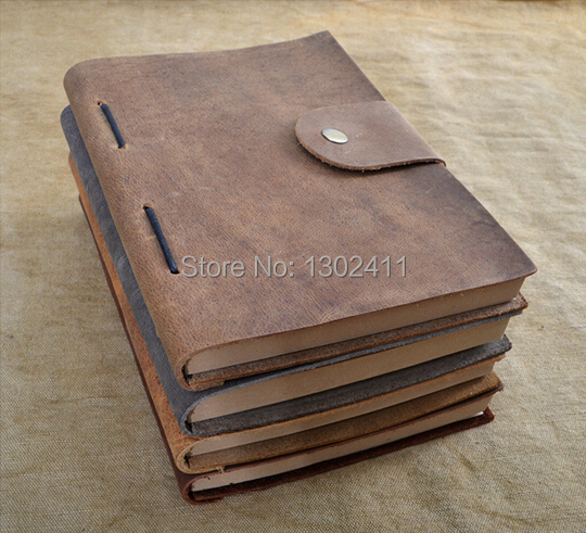 Vintage Refillable Genuine Leather Travel Journal Notebook Diary Sketch Book 4 Colors personal gift(China (Mainland))