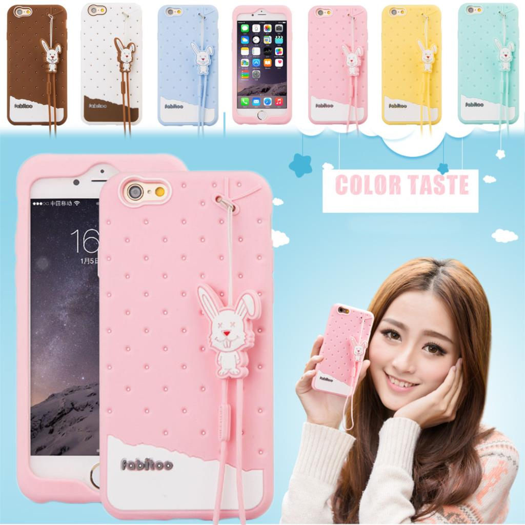 Fabitoo Cartoon Soft Silicone Case For Apple iPhone 5 5s SE 5SE Soft Ice Cream Cover Skin Phone With Rubber Strap Promation NEW(China (Mainland))