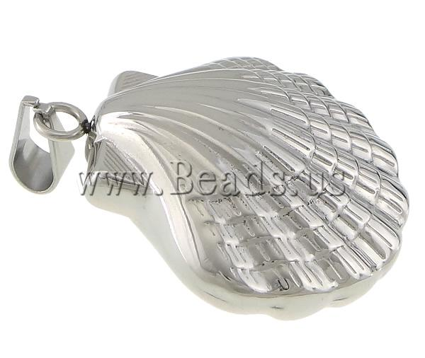 Free shipping!!!Stainless Steel Jewelry Pendants,New Arrival, 316 Stainless Steel, Shell, oril color, 32x37x14.50mm
