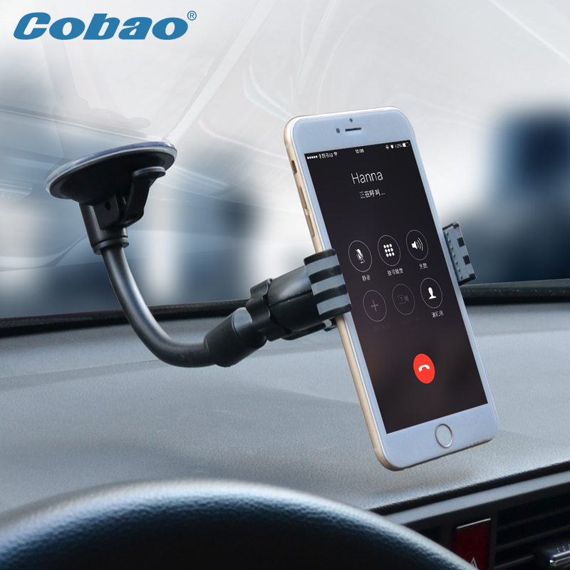 Universal 360 degree Car Windshield Mount Cell Mobile Phone Holder Bracket Stands for iPhone 5 6 Plus Galaxy Note 2 3 S4 S5 GPS(China (Mainland))