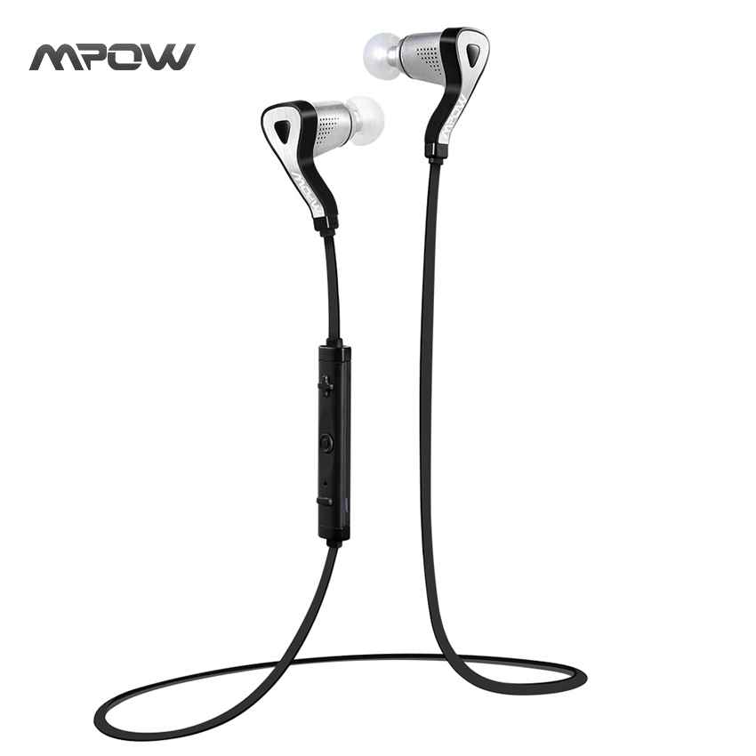 MBH11 Mpow Seal Bluetooth 4.0 Headset Neckband In-Ear Wireless Headphone Stereo Sport Headphones with Aptx Mic Handsfree Calling(China (Mainland))