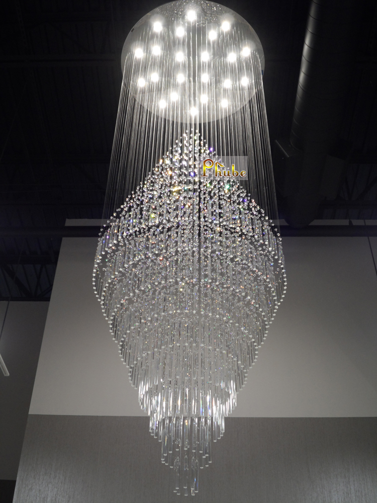 Wide Foyer Chandelier : Foyer crystal chandelier light large