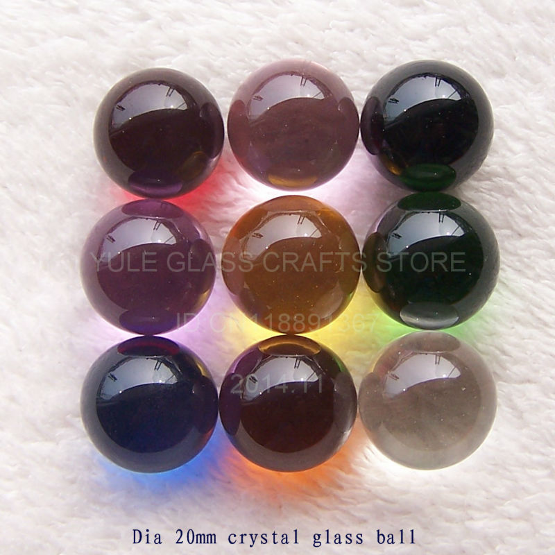 Decoration crystal ball inch multi color glass