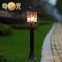 Europa clásico llevó la lámpara del césped jardín lámpara a prueba de agua la vendimia exterior columna de luz 110 V / 220 V envío gratis(China (Mainland))