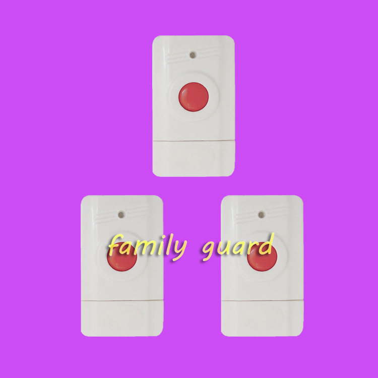 Free Shipping!3 pieces/lot wireless panic button used for emergency help SOS wireless 433mhz / 315mhz home security alarm system(China (Mainland))