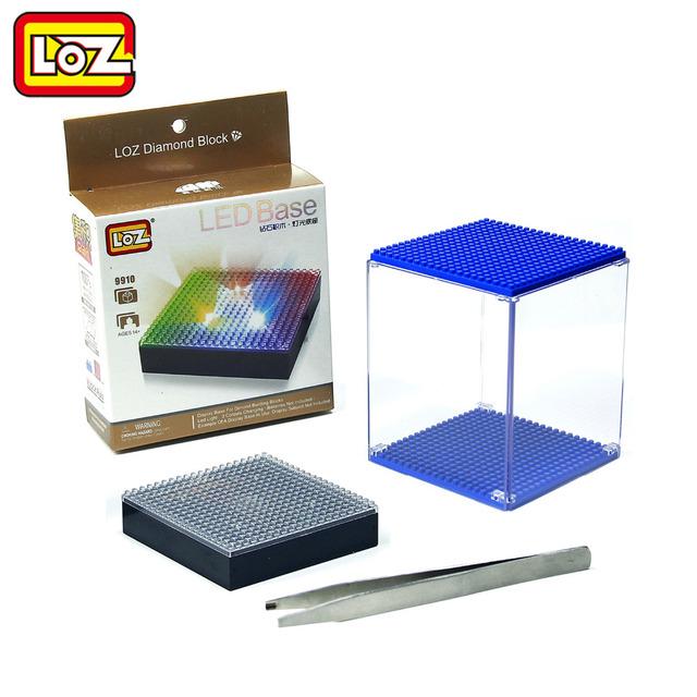 Loz алмазов строительные блоки базового отображения прозрачный дисплей окно многоцветный совместим с Wisehawk QCF LOZ в подарок специальное