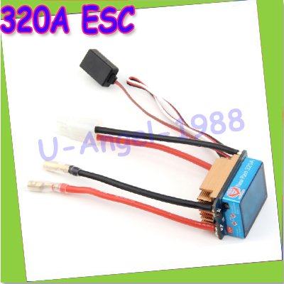 Register Free shipping 7.2-16V 320A Brushed ESC Speed Controller Dual Mode Regulator band brake 5V 3A for 1/10 RC Car Boat(China (Mainland))