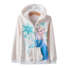 2015 New winter baby girls coat, Elsa jacket, Children's recreational coat, children's warm hooded jacket.(China (Mainland))