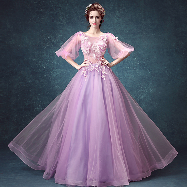 violet clair bulle manches robe m233di233vale sissi princesse