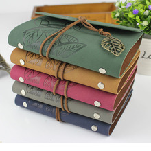 2016 Vintage spiral notebook leather journal diary blank kraft paper note book sketchbook A6 A7 ring binder planner - RuiZe stationery Store store