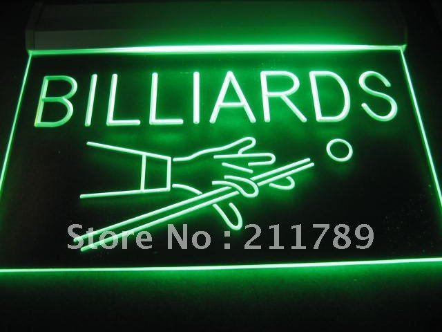 B0258-R Billiards Pool Room Table Bar Pub NEW Light Sign