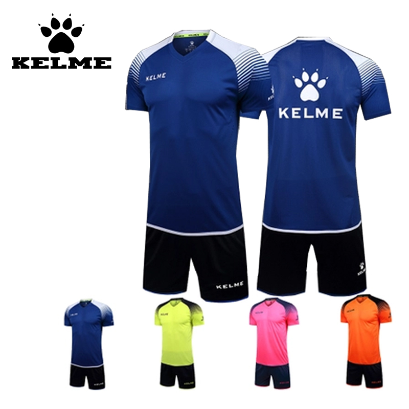 KELME Pro Soccer Uniform College Football Jerseys 2016 2017 Can Be Customized Short Sleeved Football Sets Maillot De Foot Top(China (Mainland))