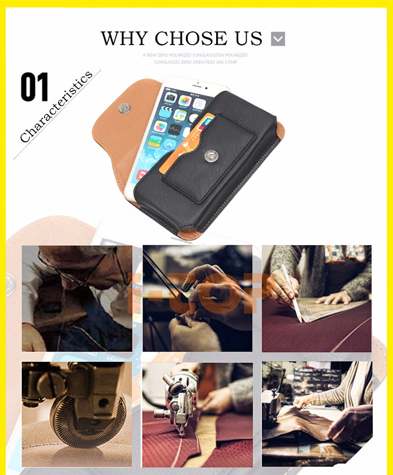 High Quality Magnetic Horizontal Leather Case For doogee x5 max pro 5.1″ Below Shell Hook Loop Belt Pouch With Card Slots Bags