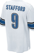 2016 NEW MEN 'S 81 Calvin Johnson jerseys 9 Matthew Stafford white blue 100% Stitched jersey(China (Mainland))