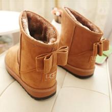 Nueva llegada de la manera 2015 mujeres botas de invierno botas de nieve 2015 de la manera Caliente de Las Señoras de bowtie zapatos de la nieve de las mujeres botas de nieve(China (Mainland))