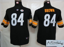 Signature youth Pittsburgh Steelers children 32 Franco Harris 83 Heath Miller 84 Antonio Brown Embroidery Logos size S to XL(China (Mainland))