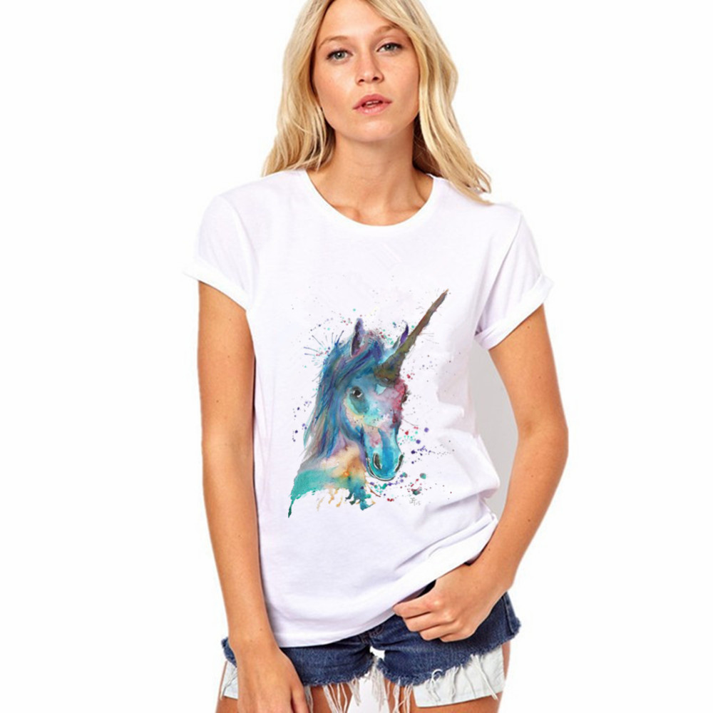 HOT! 2016 Cotton Horse Vibe With Me Print Punk Rock Fashion Graphic Tees European T shirt Summer Women Designer Clothing(China (Mainland))