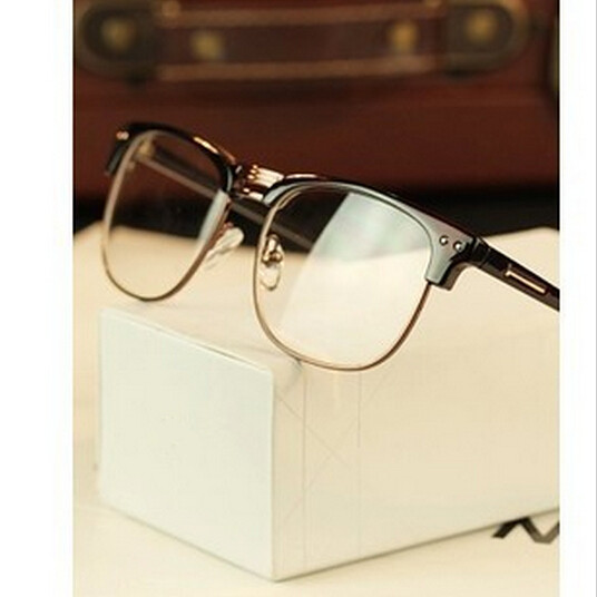 Metal half-rim frame glasses retro men reading Glasses UV protection glass without magnification wholesale(China (Mainland))