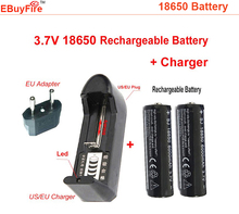 3.7 V 18650 Rechargeable Battery for flashlight torch +18650  charger  for LED Flashlight  2* 18650 battery +charger(China (Mainland))