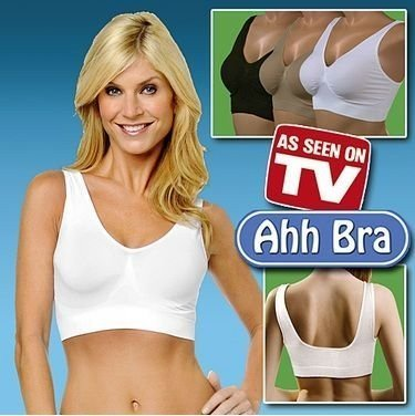 Free Shipping ! Ahh Bra with Retail Box/ Microfiber Pullover Bra Body Shaper /Black/white/skin-colored/S M L XL XXL XXXL/ UD-027