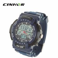 Pasnew reloj deportivo resistente al agua de cuarzo analógico Digital resistente al agua reloj de pulsera w / alarma / Timer ( 1 x R2016 )