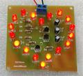 18LED Heart shaped lamp circuit design suite Circular rotating flash Interesting DIY teaching circuit