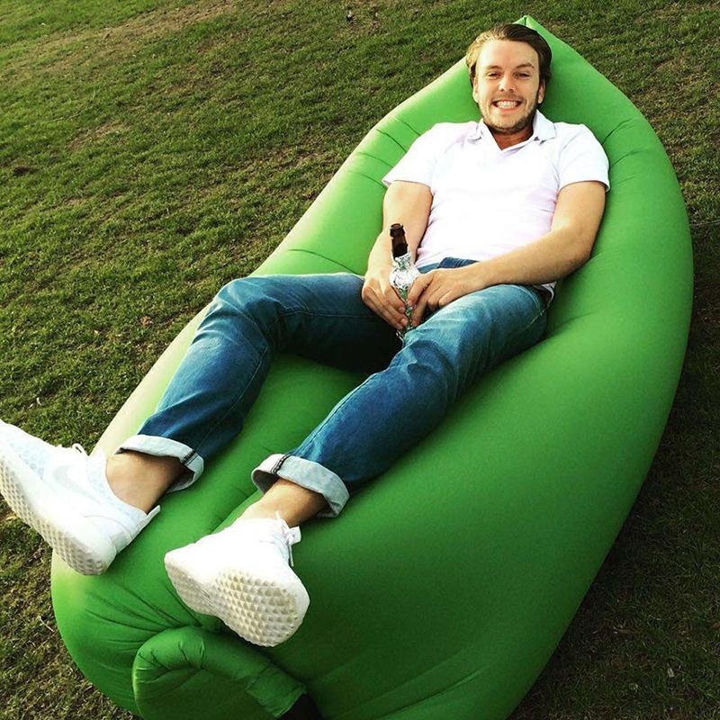 Beach Portable Outdoor Inflatable Sofa Chair Fast Inflatable Lamzac hangout Air Camping Bed KAISR Beach Sofa Lounge Sleeping bag(China (Mainland))